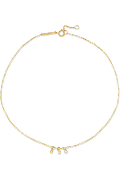 GRACE LEE DOT 14-KARAT GOLD DIAMOND ANKLET