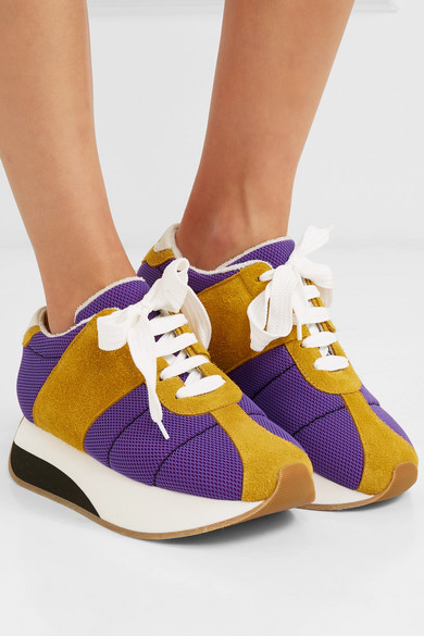 72fffb6280d3 Marni. Mesh and suede platform sneakers