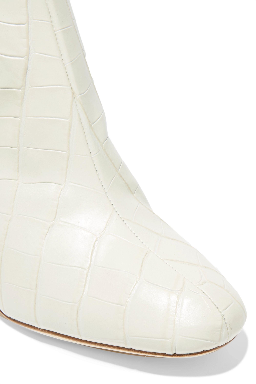 Loeffler Randall Cooper 仿蛇纹皮革踝靴