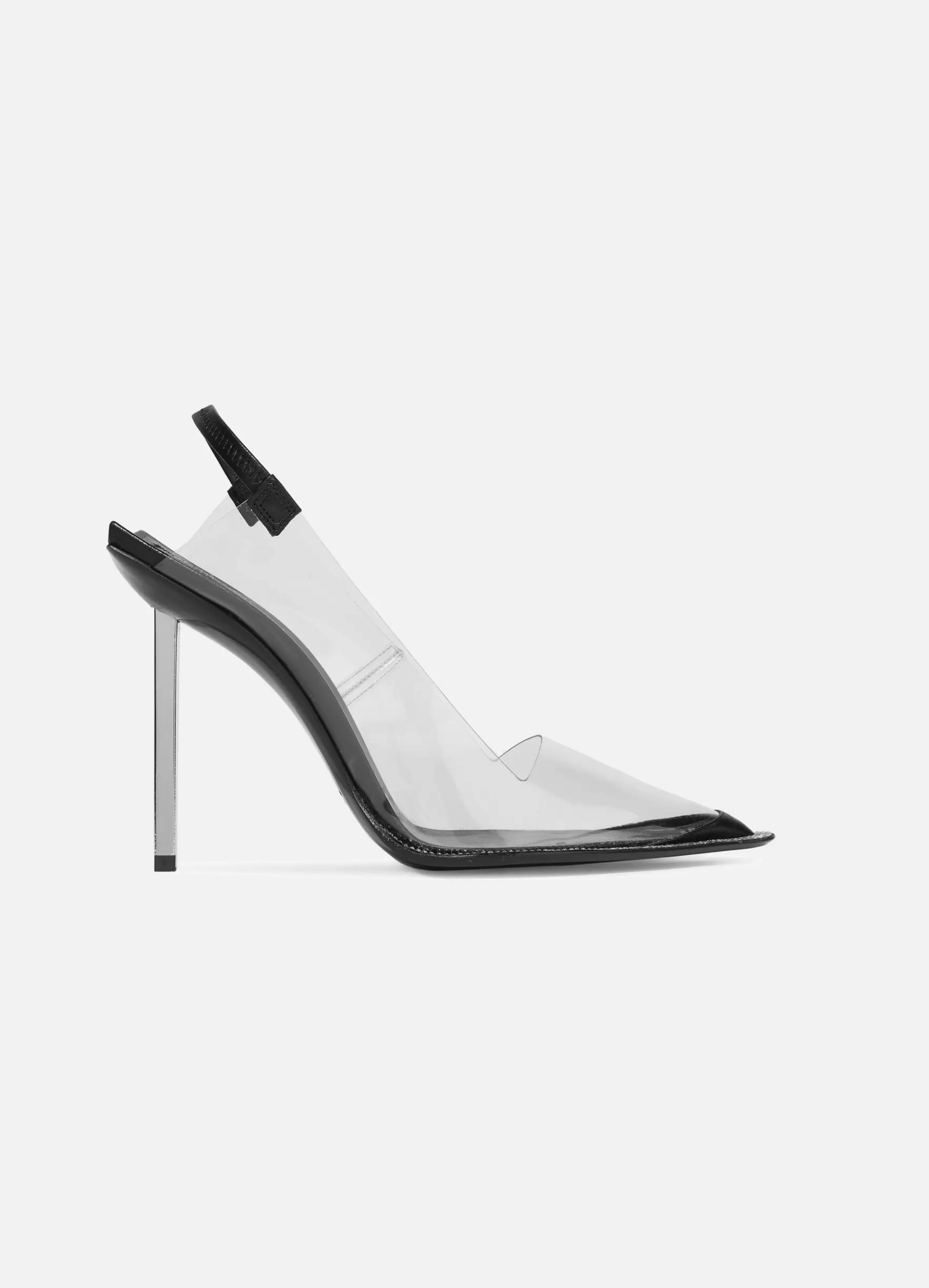 Alexander Wang Marlow crystal-embellished PVC and leather slingback pumps