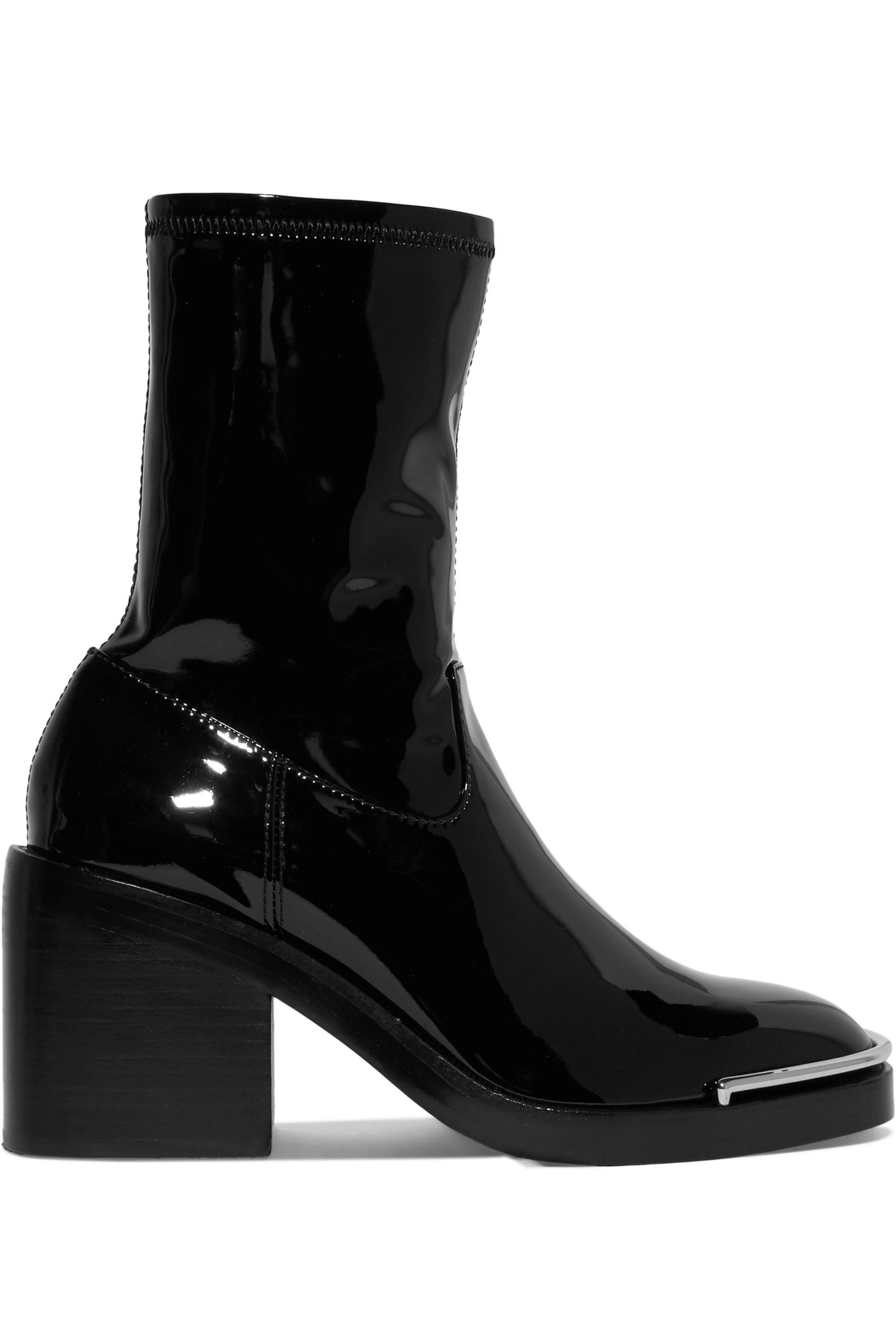 Black Hailey metal-trimmed PVC ankle