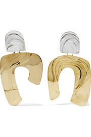 Leigh Miller Totem gold-tone and silver earrings