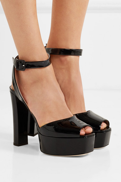 Giuseppe Zanotti | Plateausandalen Betty Plateausandalen | aus Lackleder 550cfd