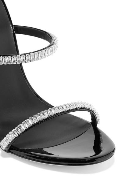 Giuseppe Zanotti Sandals Harmony crystal-embellished patent-leather sandals
