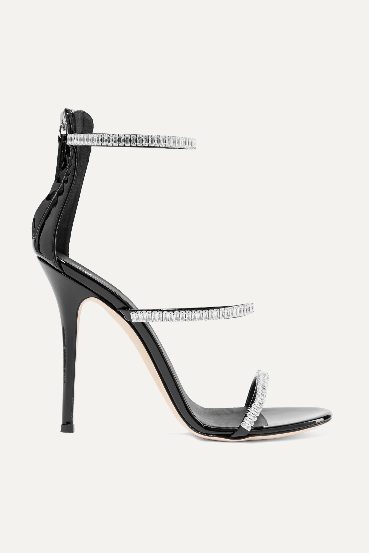 Giuseppe Zanotti Harmony crystal-embellished patent-leather sandals