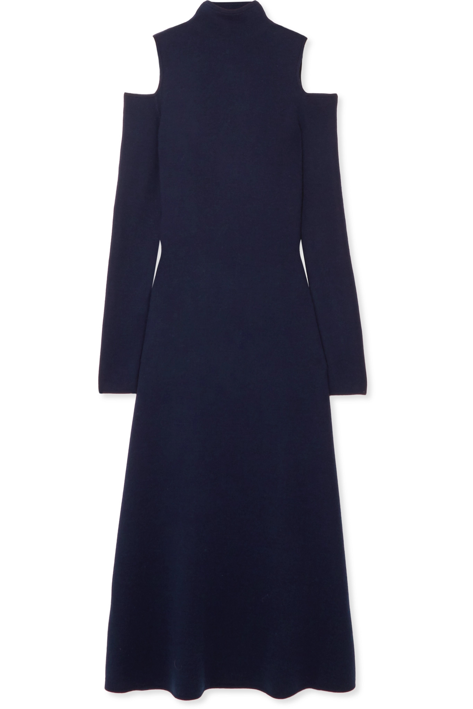 Gabriela Hearst Silveira cold-shoulder wool-blend midi dress