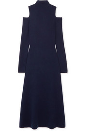 Silveira cold-shoulder wool-blend midi dress