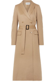 Joaquin double-breasted pleated cashmere coat