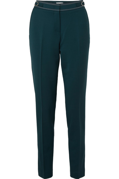 Gabriela Hearst - Isabel Wool-blend Slim-leg Pants - Green