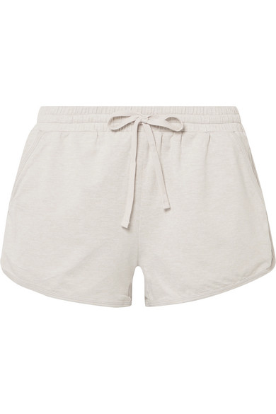 WE/ME The Zen Stretch-Jersey Shorts in Beige