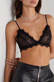 Anine Bing Stretch-lace soft-cup triangle bra