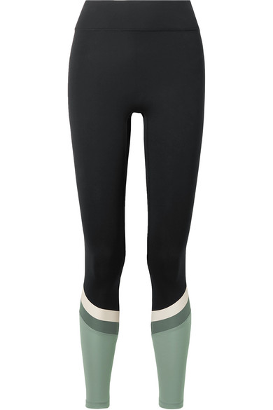 ALL ACCESS Tour Paneled Stretch Leggings in Black