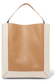 Frame Tote aus Leder in Colour-Block-Optik
