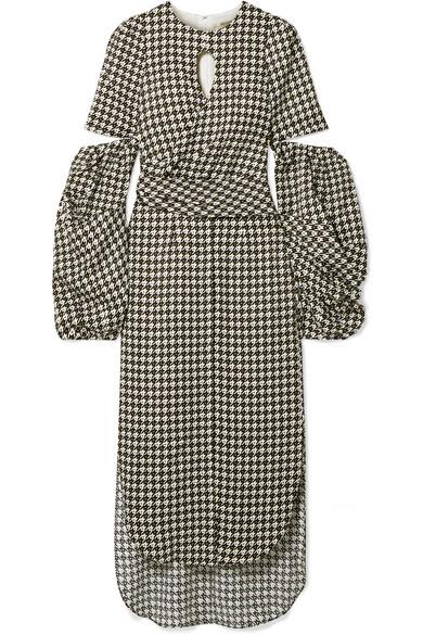168814acc13 Blair wrap-effect cutout jacquard midi dress