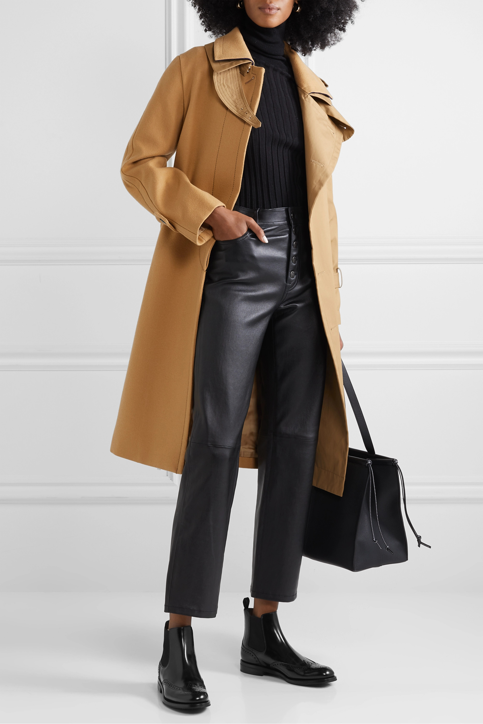 Black Ketsby glossed-leather Chelsea
