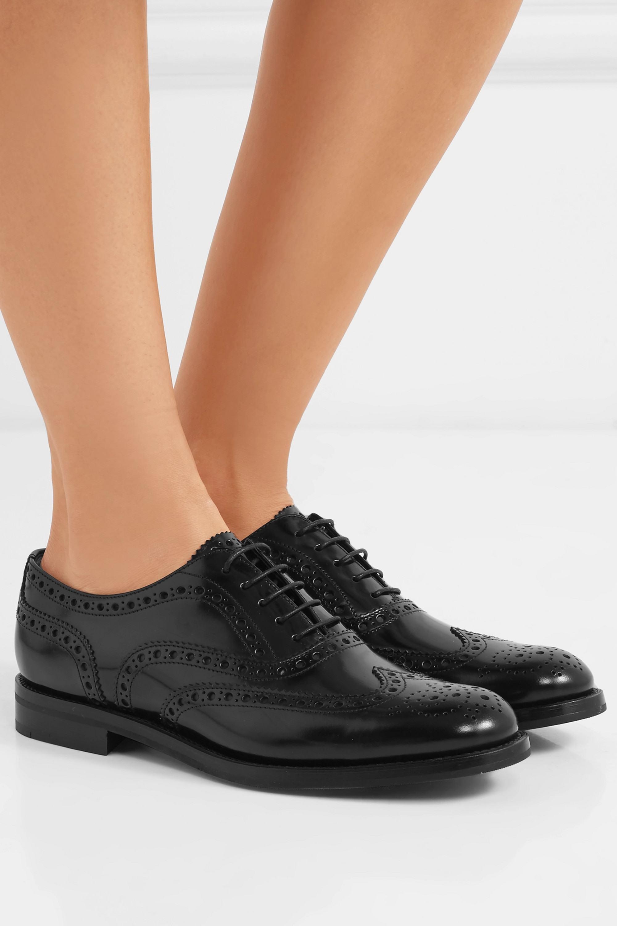 Church's Burwood glossed-leather brogues