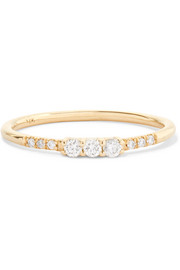 Equilibrium 14-karat gold diamond ring