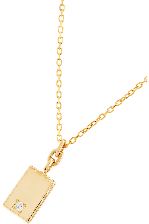 Jennie Kwon Designs Mirror 14-karat gold diamond necklace