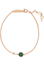 Piaget Possession 18-karat rose gold, malachite and diamond bracelet