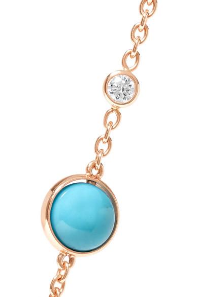 Possession 18-karat Rose Gold, Turquoise And Diamond Bracelet - one size Piaget