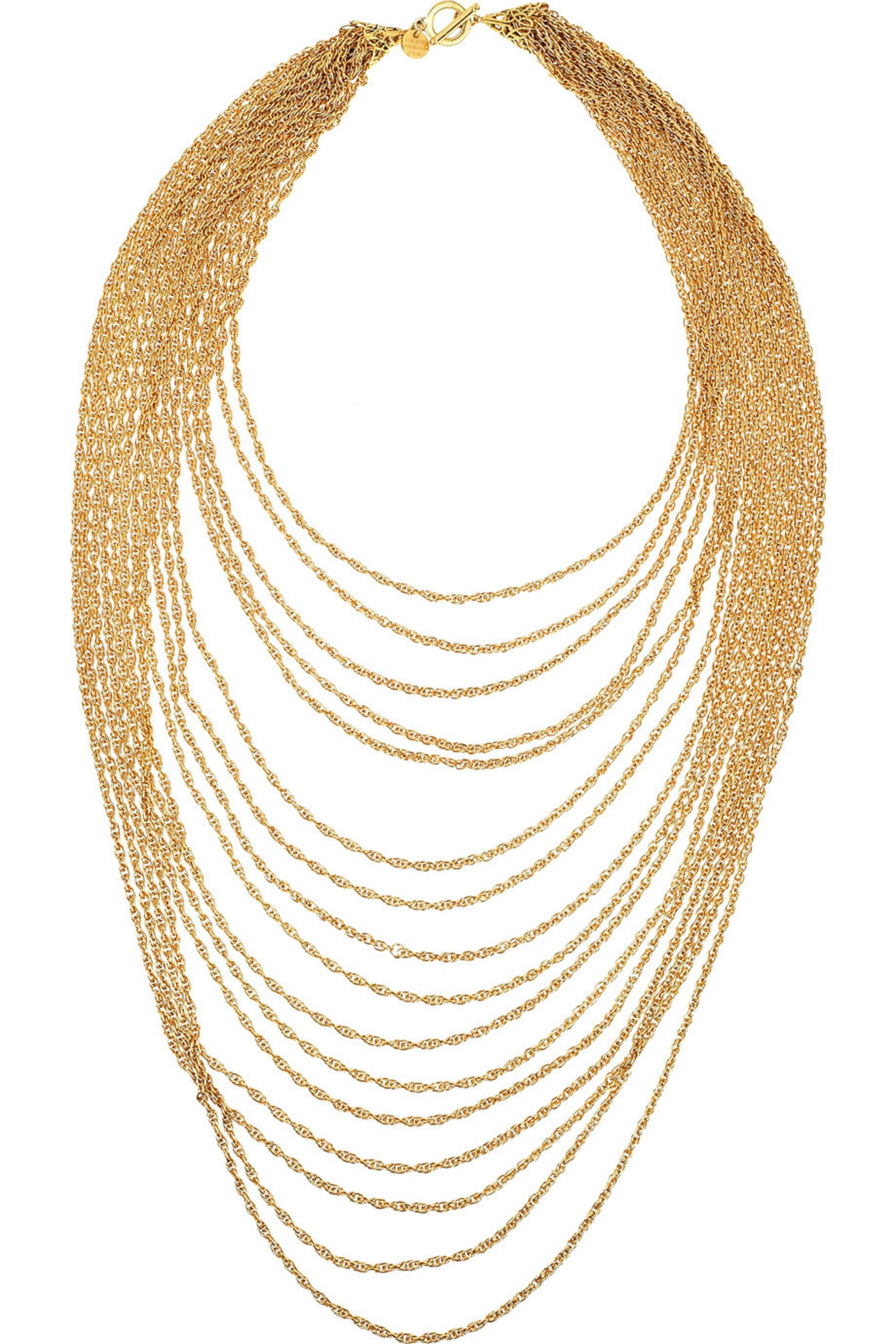 Philippe Audibert Chaine gold-plated multi-strand necklace