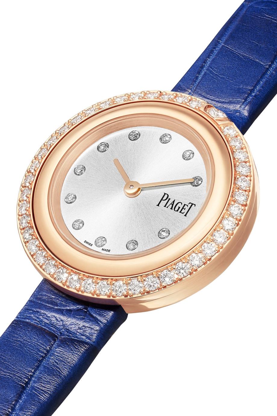 Piaget Possession 29mm 18-karat rose gold, alligator and diamond watch