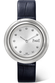 Piaget Possession alligator, stainless steel diamond watch
