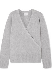 London wrap-effect cashmere sweater