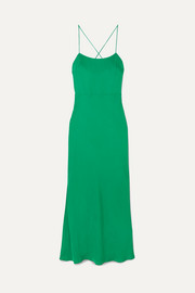 Cutout twill maxi dress