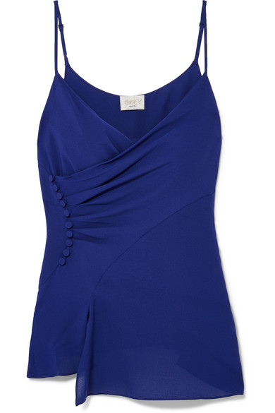 Jason Wu GREY - Ruched Silk-crepe Camisole - Cobalt blue