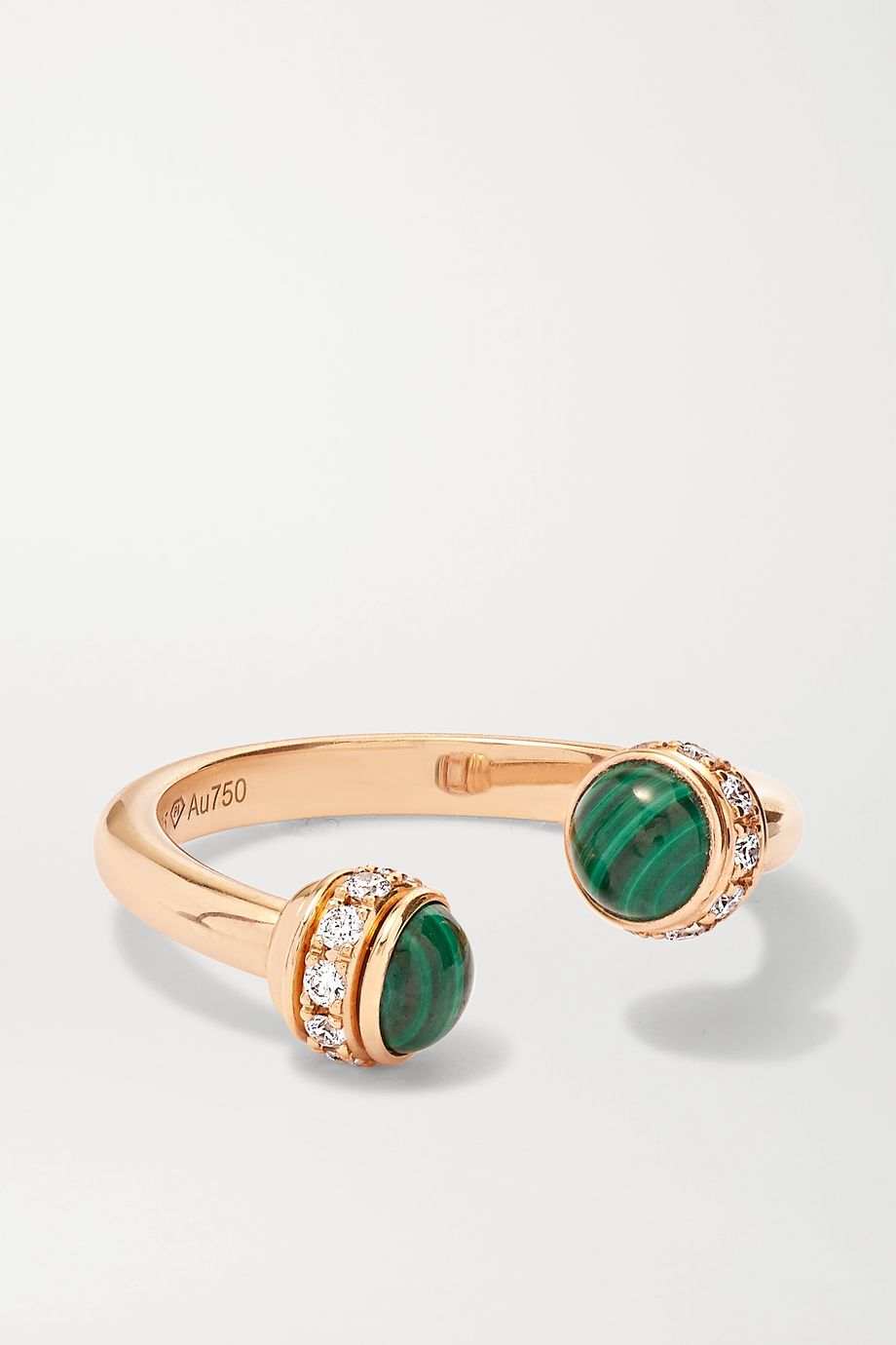 Piaget Possession 18-karat rose gold, malachite and diamond ring
