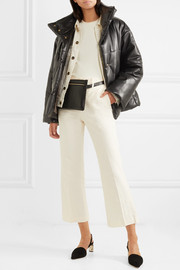 Hide quilted vegan faux leather jacket