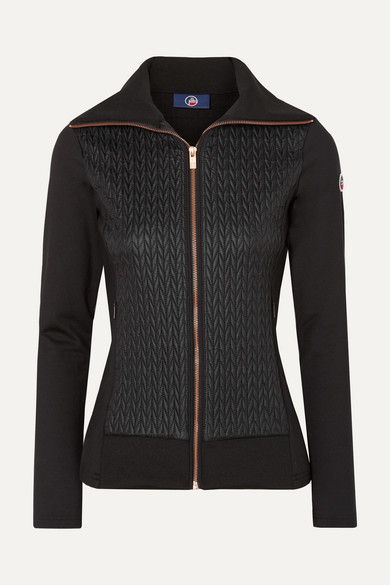 FUSALP Myrtille Quilted Shell And Stretch-Jersey Jacket in Black