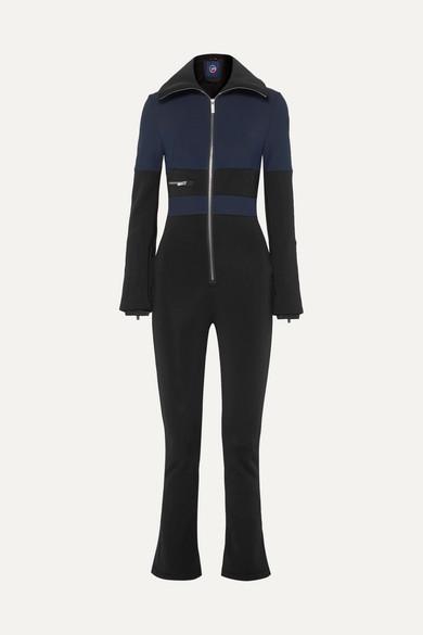 FUSALP Grazzia Color-Block Stretch-Shell Ski Suit in Navy