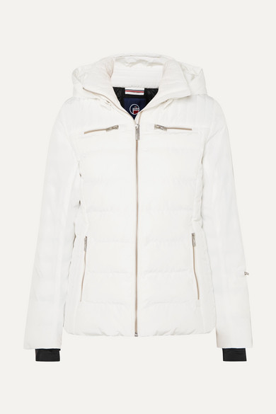 FUSALP Izia Hooded Quilted Down Ski Jacket in White