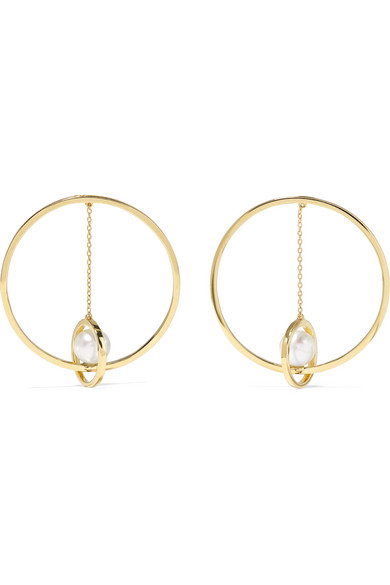 14 Karat Gold Pearl Earrings by Mateo
