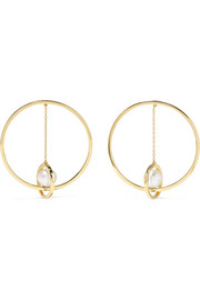 Mateo 14-karat gold pearl earrings