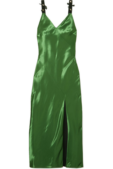 Jason Wu - Embellished Mikado Midi Dress - Green