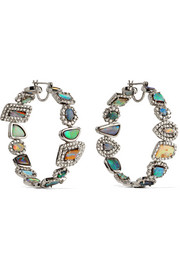 Kimberly McDonald 18-karat white gold, opal and diamond earrings