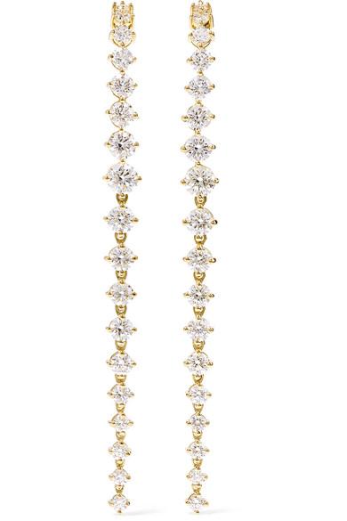 Aria Violet 18 Karat Gold Diamond Earrings by Melissa Kaye