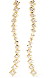 Margo Wave 18-karat gold diamond earrings