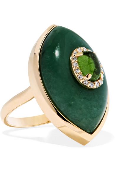 MARLO LAZ Iris 14-karat gold multi-stone ring