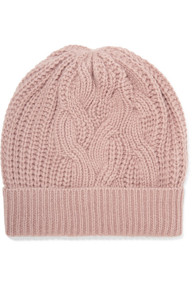 e9888f3271b Johnstons of Elgin. Cable-knit cashmere beanie