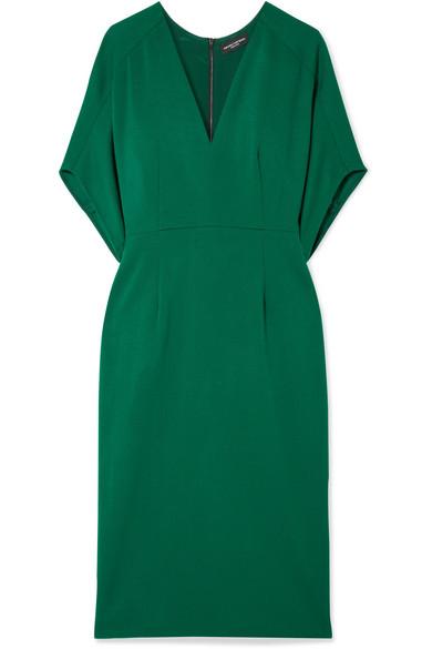 Narciso Rodriguez - Wool-crepe Midi Dress - Green