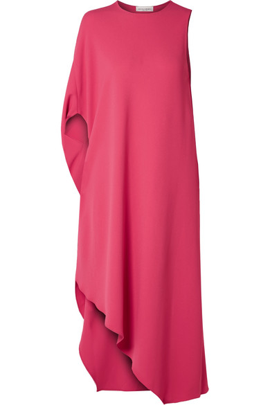 Narciso Rodriguez - Asymmetric Cady Midi Dress - Bright pink