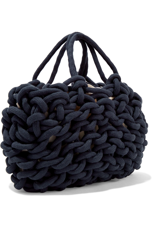 Alienina Woven cotton tote
