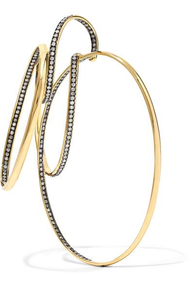 GAELLE KHOURI EPISTEME 18-KARAT GOLD DIAMOND EARRING