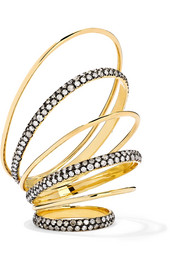Gaelle Khouri Twister of Thoughts 18-karat gold diamond ring