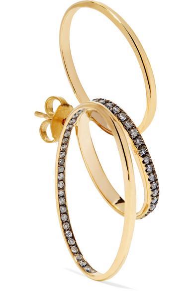 GAELLE KHOURI DOXA 18-KARAT GOLD DIAMOND EARRING