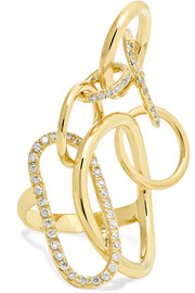 Qualia 18-karat gold diamond ring